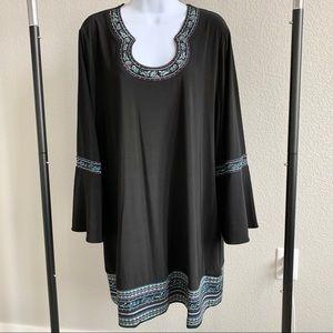 White House Black Market Embroidered Dress 2X